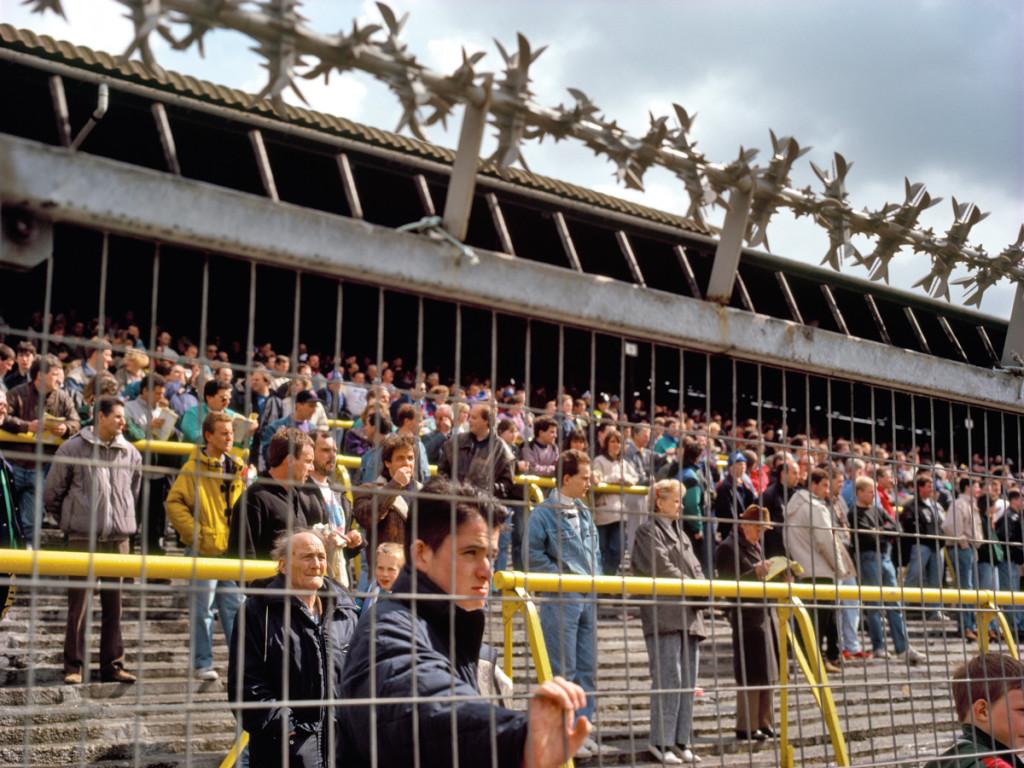 Stacheldraht vor Millwall-Fans